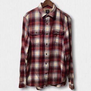 Gap + Pendleton Red Plaid Cotton Flannel Shirt L